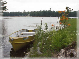 Yellow Boat on East Caroga Lake