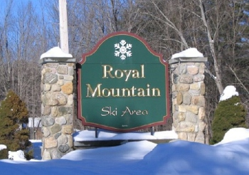 Royal Mountain Ski Area Sign